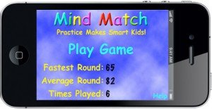 Mind Match Home Screen