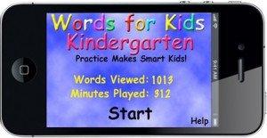 Words For Kindergarten Home Screen