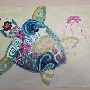 sea turtle and jelly fish dance