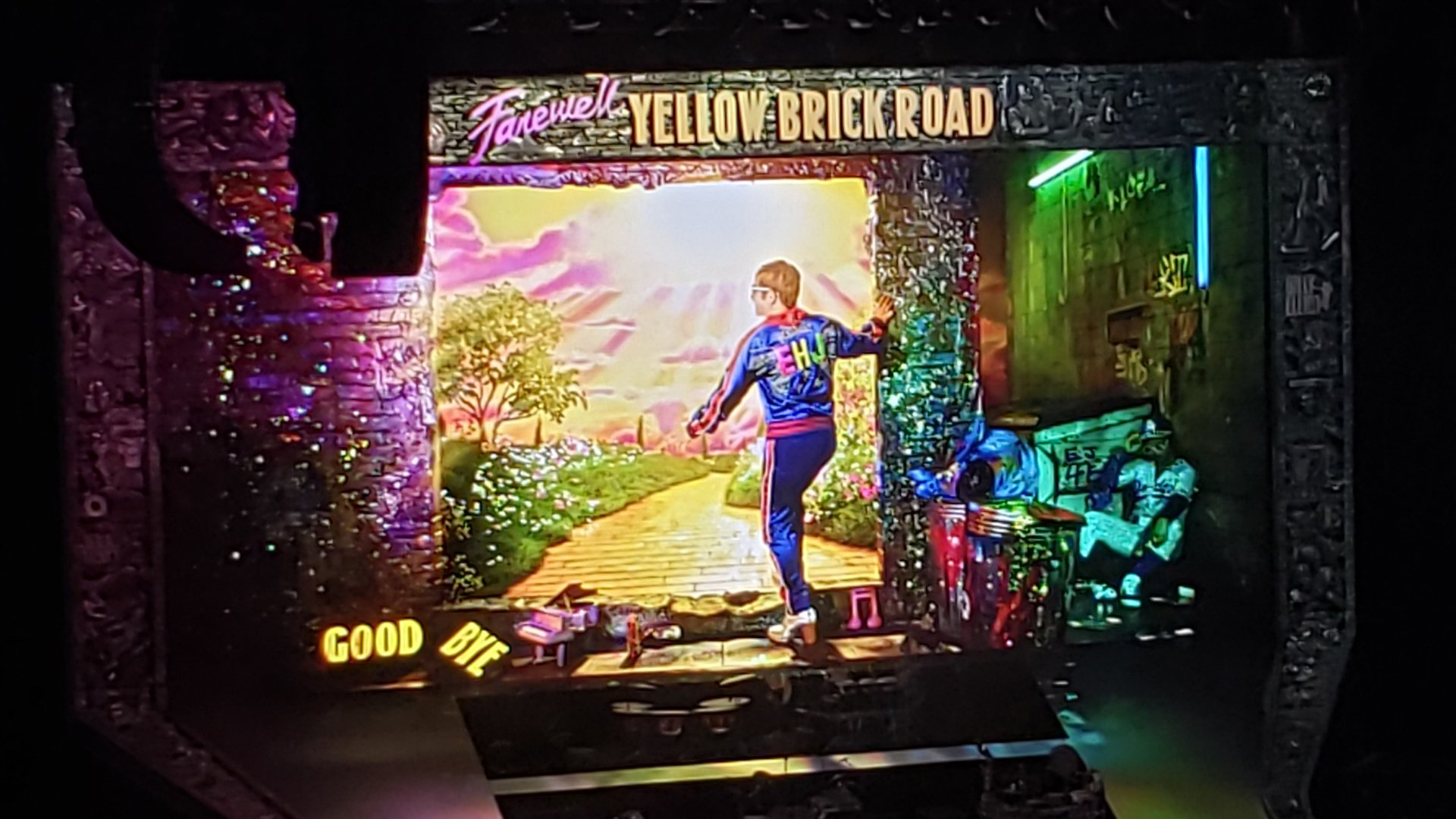 Montage of Video Clips from Elton John's – Farwell Yellow Brick Road